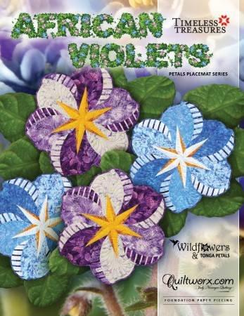 *African Violets Placemat Pattern - JNQ00215P3