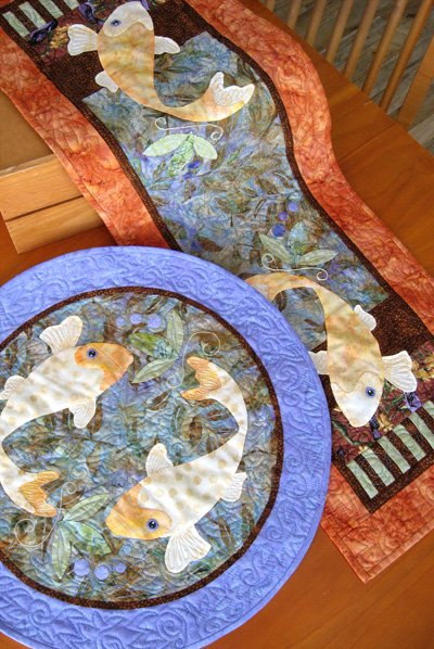 *Koiful Consideration Table Runner and Round Topper Pattern - JHQ171
