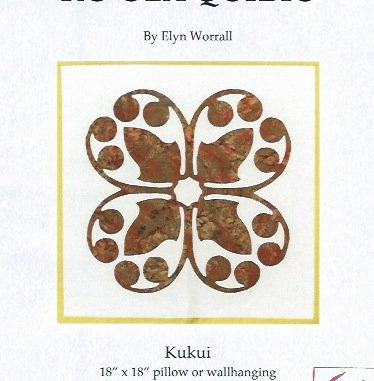 *Kukui Hawaiian Applique Pattern - KQ-K