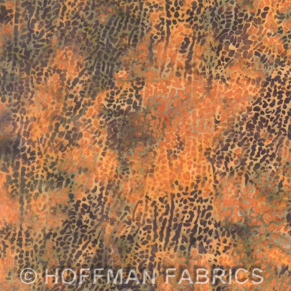 *Pumpkin Macro Leaf Batik - L2663-192
