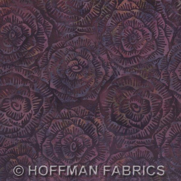 *Purple Graphic Floral Batik - L2666-14