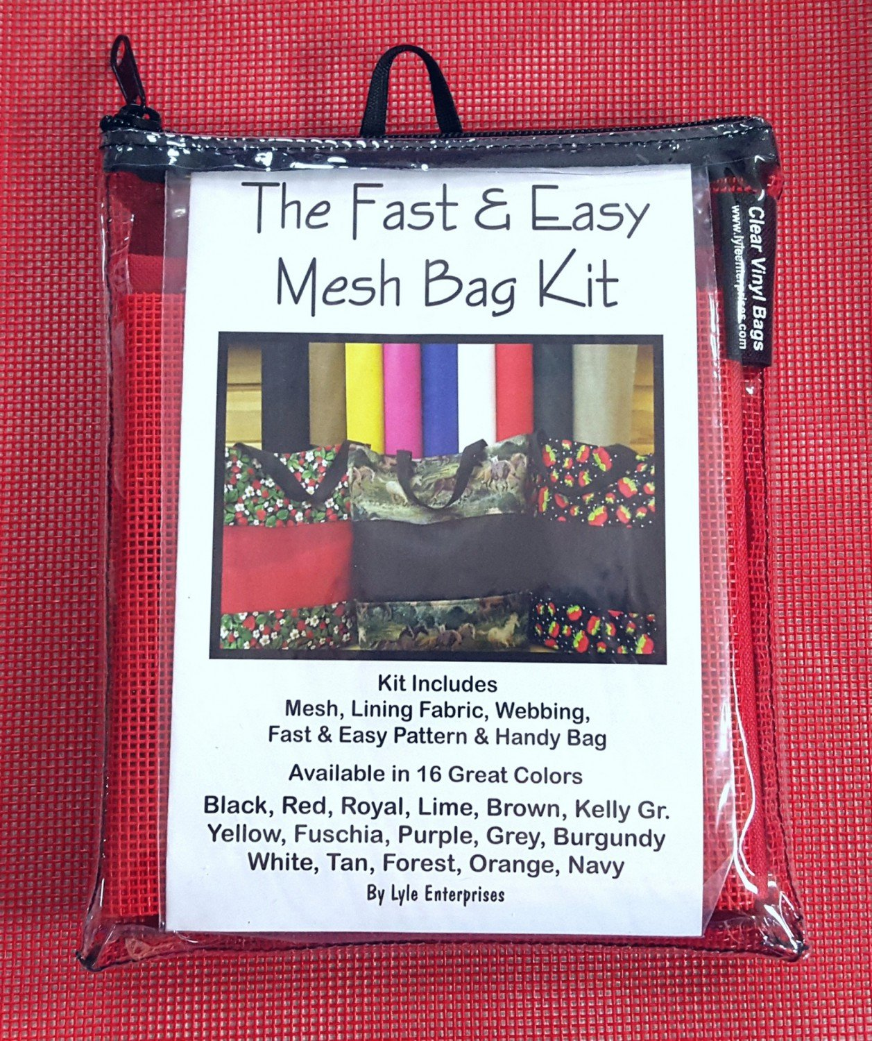 Red Mesh Bag Kit - MBK-128  - MAY BE RESTOCKED UPON REQUEST