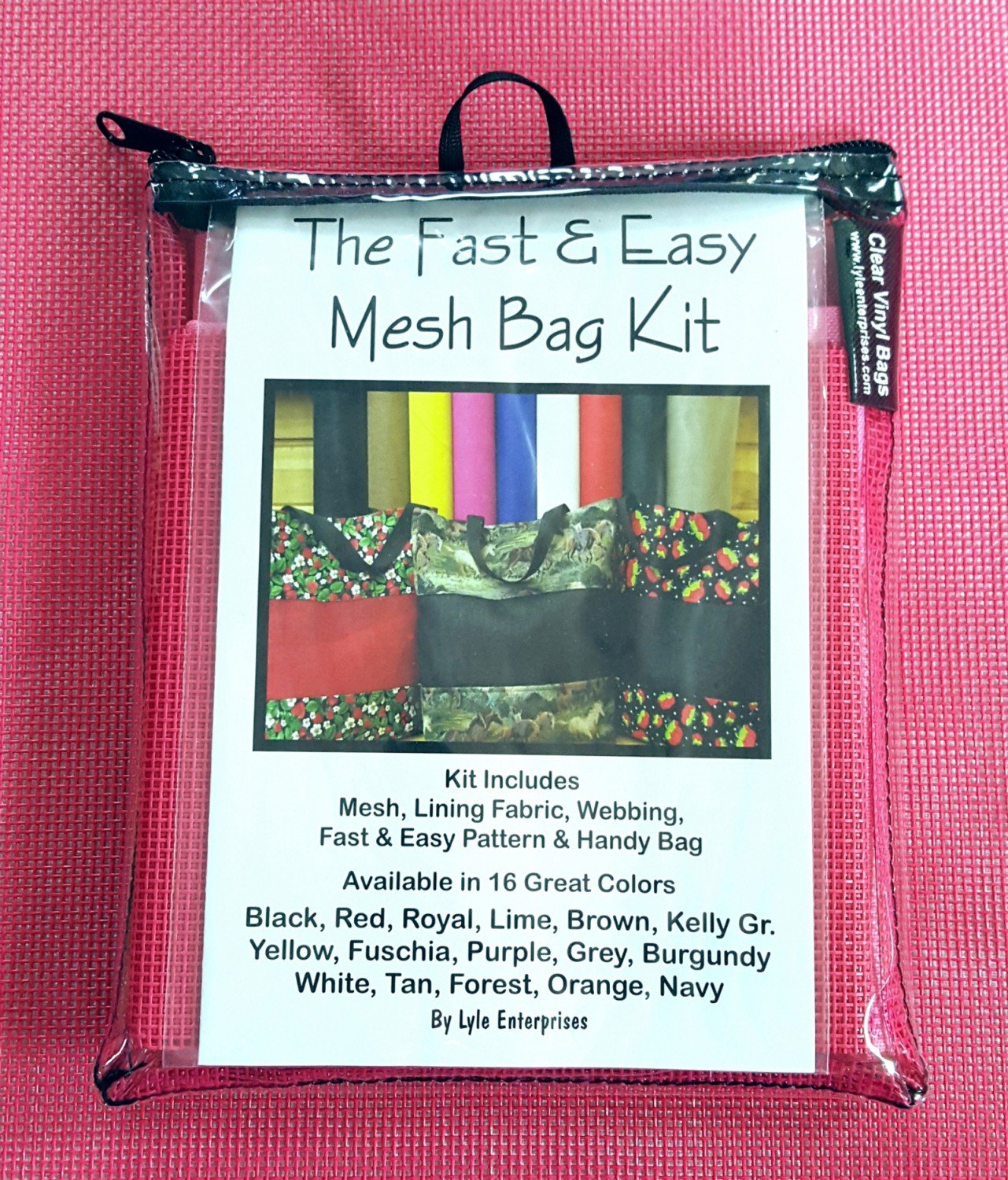 Fuchsia Mesh Bag Kit - MBK-320