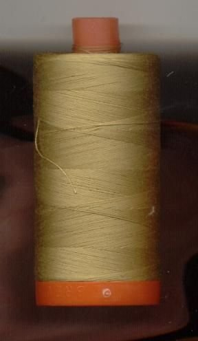 *Aurifil 50 wt. 200m Cotton Mako Thread (Lt. Brass) - 20050-2920