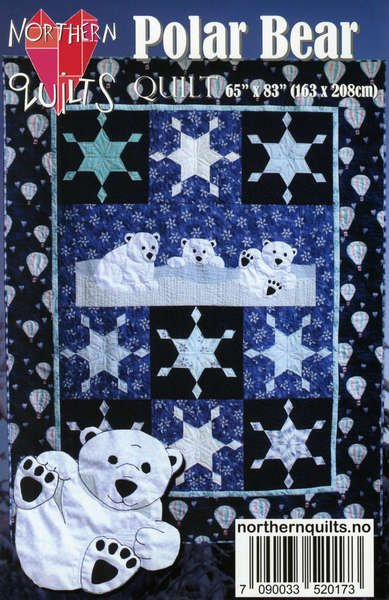 Polar Bear Quilt Pattern Nq265 May Be Restocked Upon Request