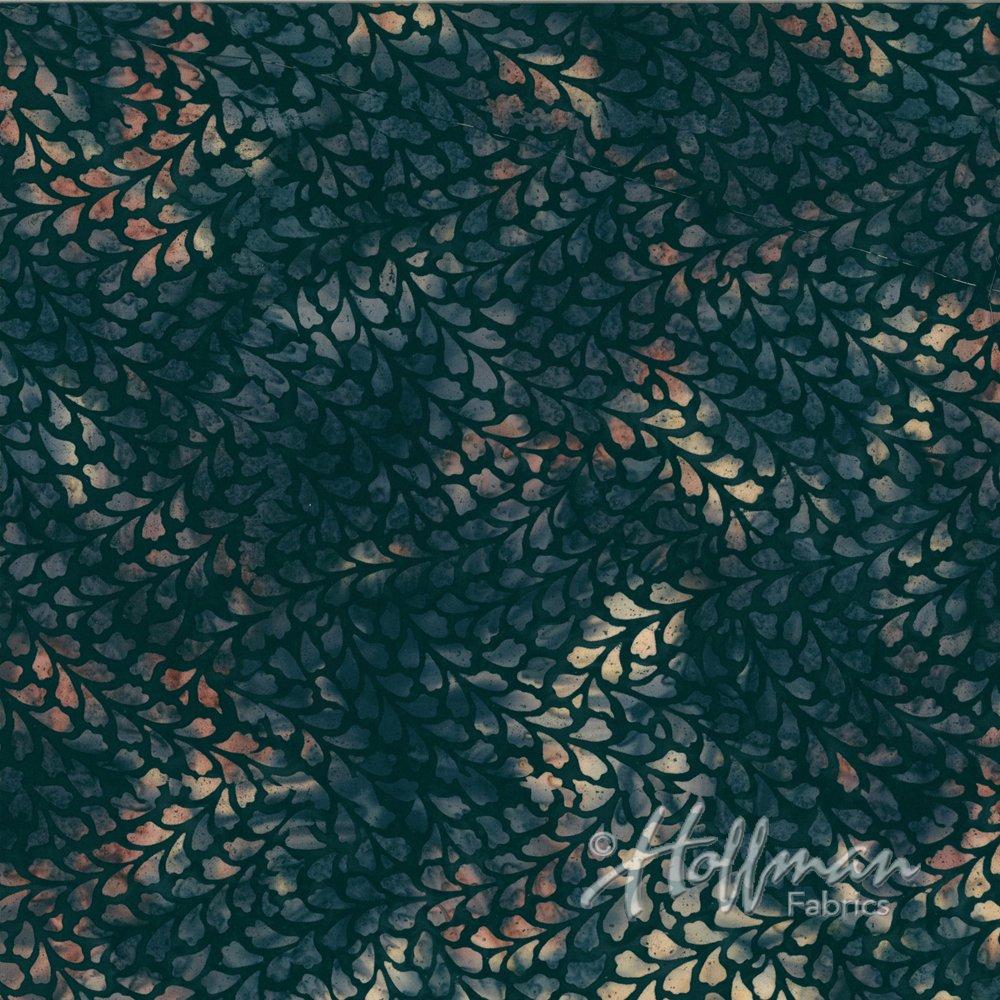 *Blacklight Leaves Bali Batik - P2940-537