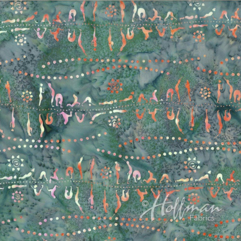 Hoffman Bali Prints M2744 91 Amethyst Cotton Fabric