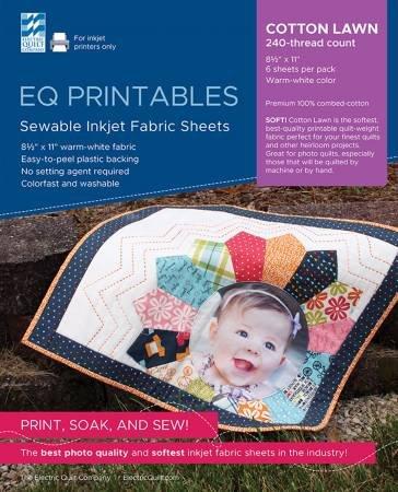 *Premium Cotton Lawn Inkjet Fabric Sheets  - P-CL811