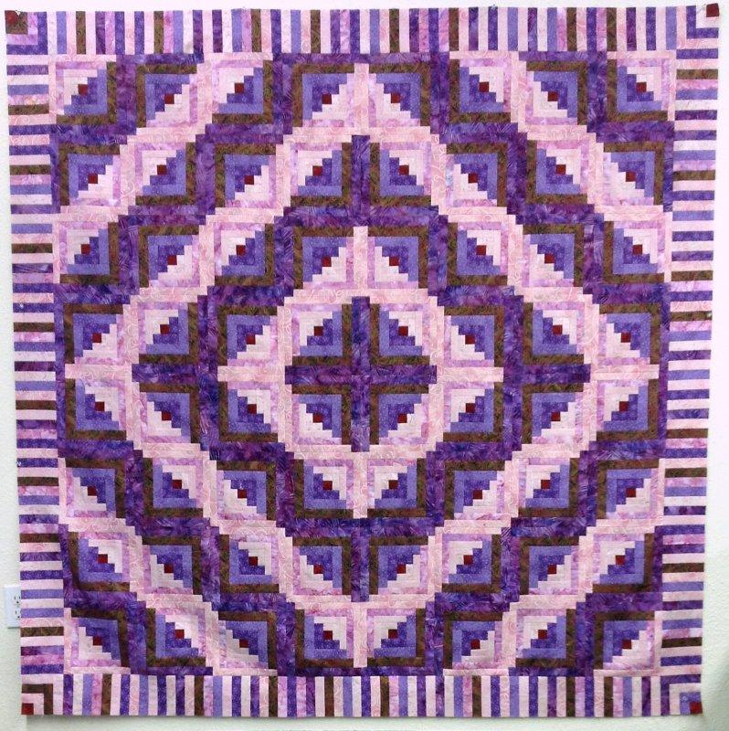 Wavy Log Cabin Quilt Pattern - WLC001