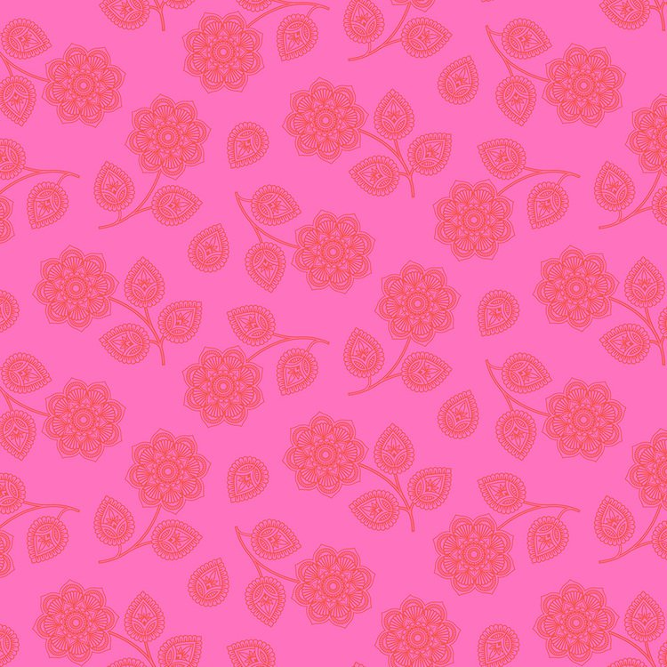 Henna Cerise Flower - PWTP074.CERIS