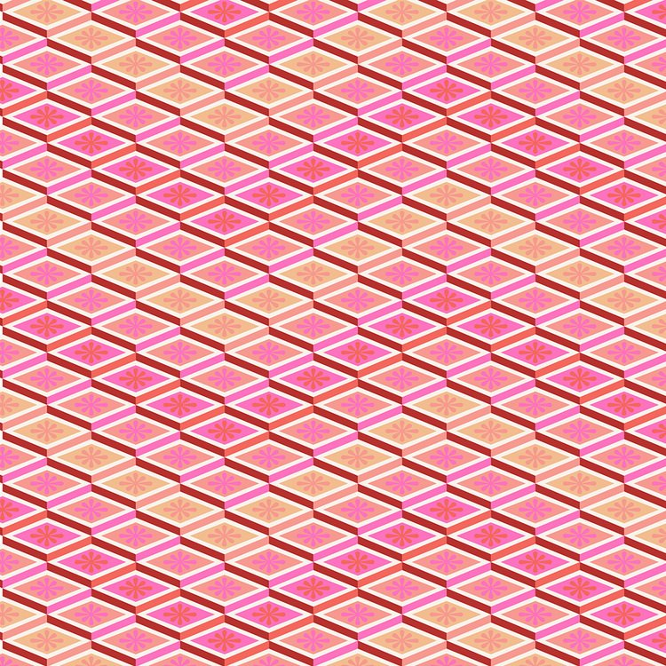 *Labyrinth Peach Chevron - PWTP075.PEACH