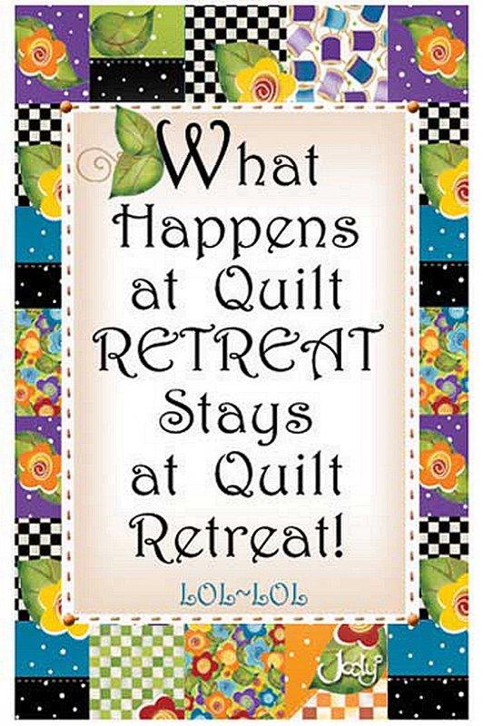 Quilting Retreat Magnet - Q-R