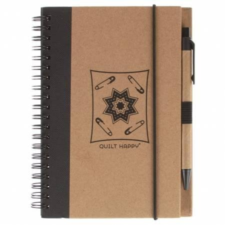Eco Journal with  Pen - Black - QH302-BA - MAY BE RESTOCKED UPON REQUEST