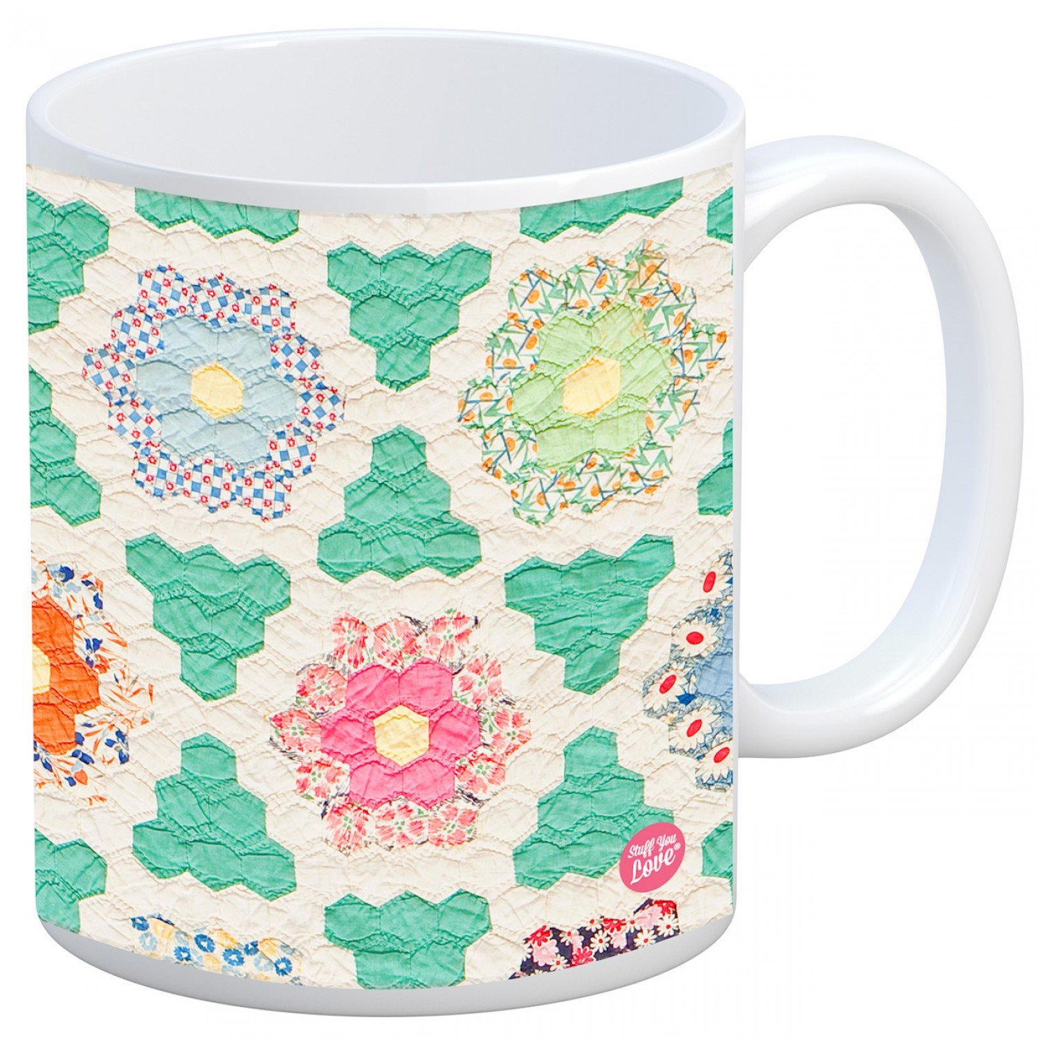 *Quilt Happy Hexagon Mug - QH523