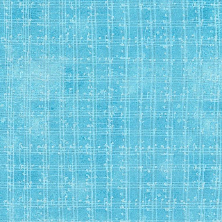 *Blue Music Notes Grid - C5935