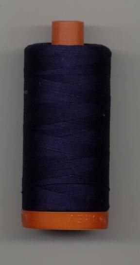 Aurifil 50 wt. Cotton Mako Thread (Very Dark Navy) - 20051-2785