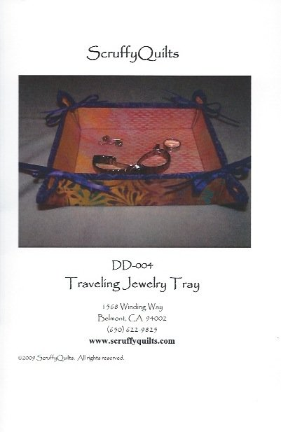 Scruffy Quilts Traveling Jewelry Tray Pattern - (DD-004)