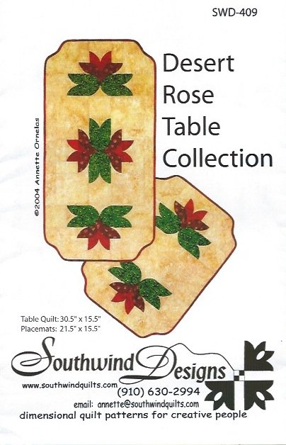 *Desert Rose Table Collection Pattern - SWD-409