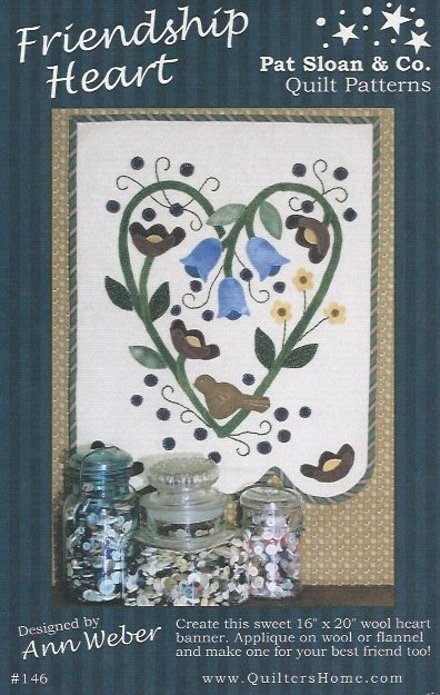 Friendship Heart Banner Pattern - FH-146