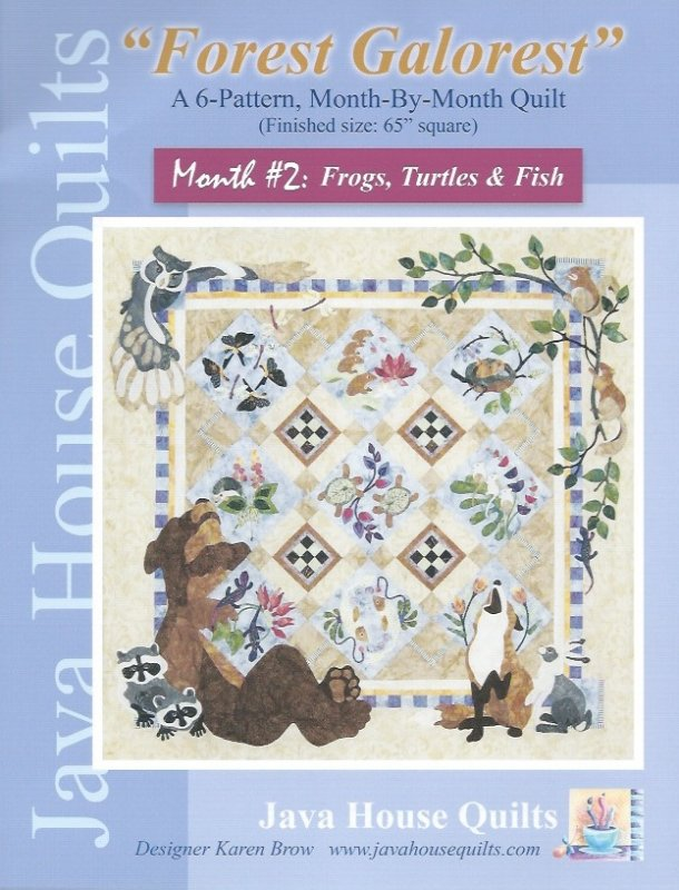 *Forest Galorest Pattern (Month #2: Frogs, Turtles, and Fish) - JHQ163