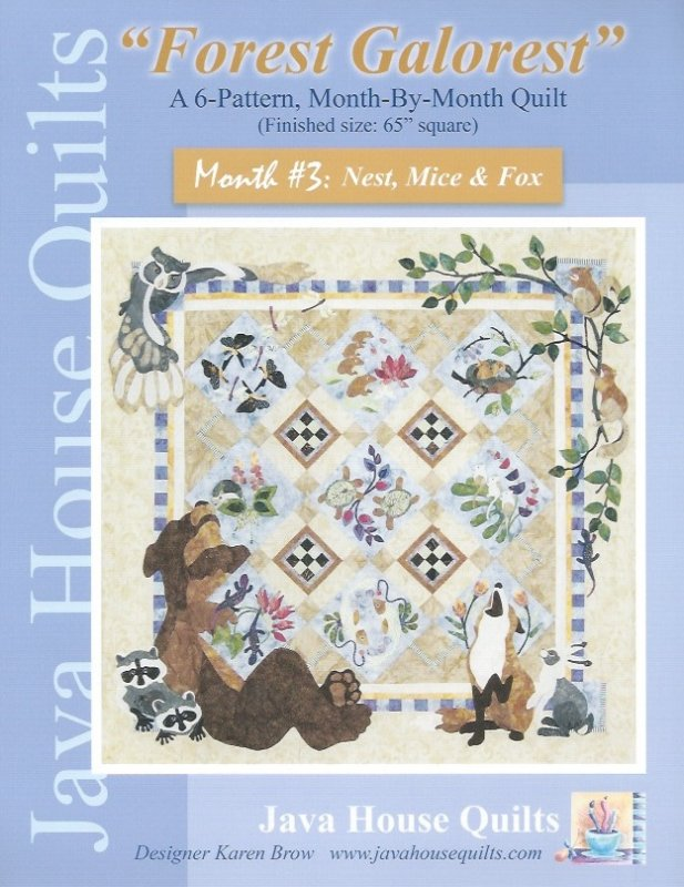 *Forest Galorest Pattern (Month #3: Nest, Mice & Fox) - JHQ164