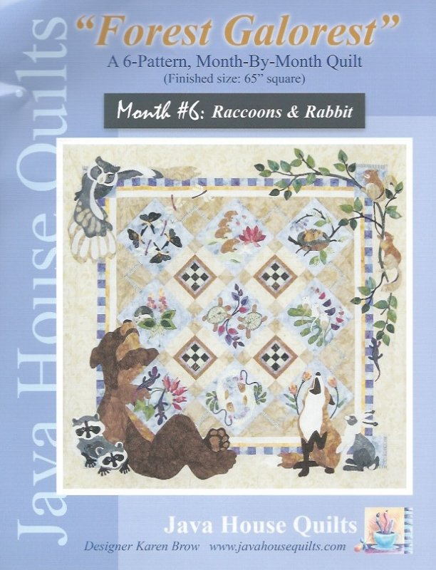 *Forest Galorest Pattern (Month #6: Raccoons and Rabbits) - JHQ167