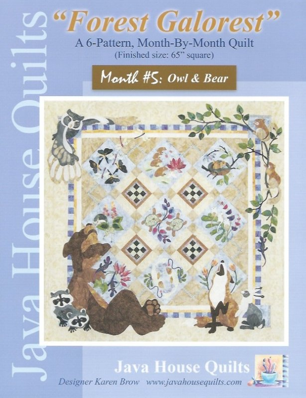 *Forest Galorest Pattern (Month #5: Owl and Bear) - JHQ166