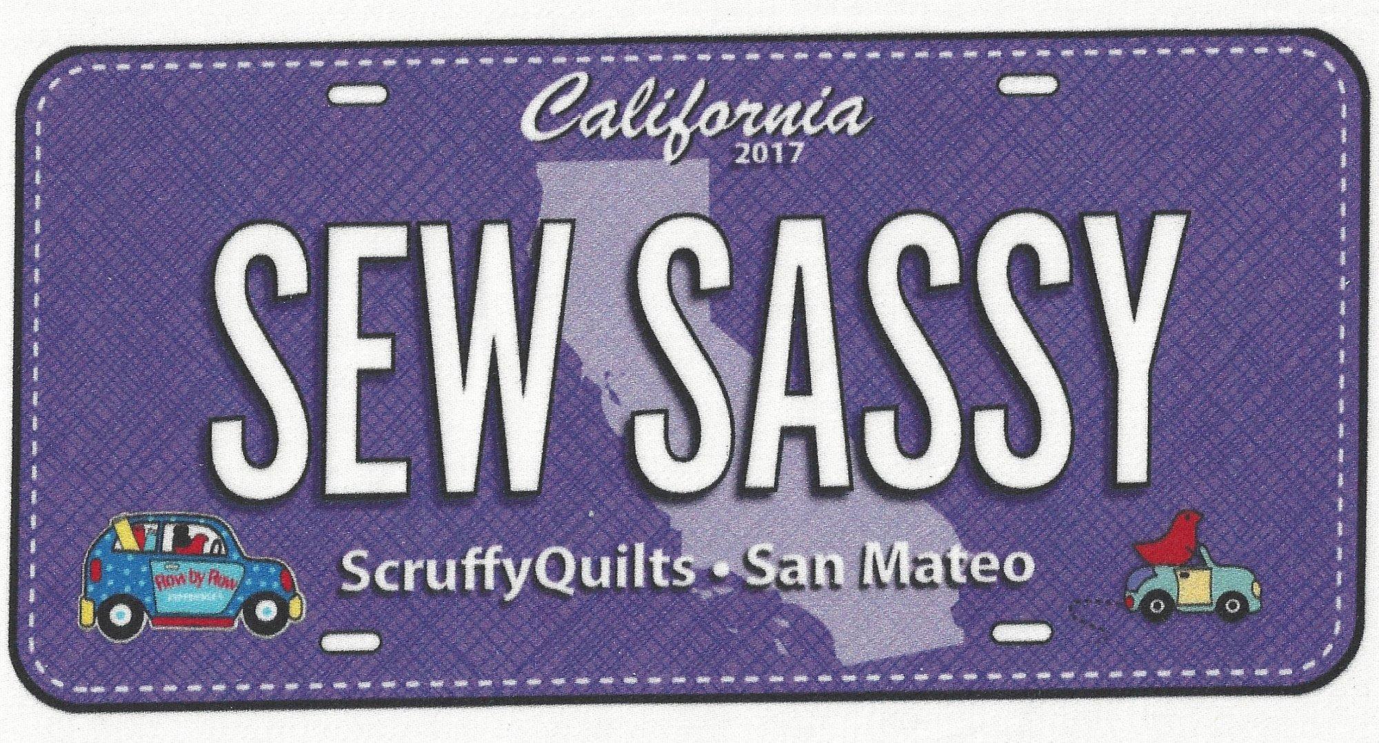 SEW SASSY Fabric Plate - SSFP