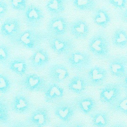 *Aqua Hearts Flannel - SRKF-17009-70