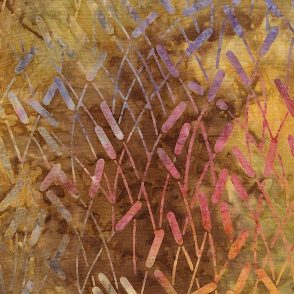 Autumn Cattails Tonga Batik - B3174