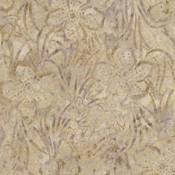 *Cream Flower Field Tonga Batik - B3179