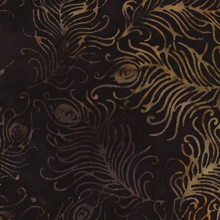 *Black Feathers Tonga Batik - B4009