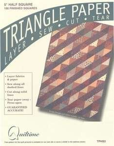 Triangle Paper 5in Half Square - (TPHS5)