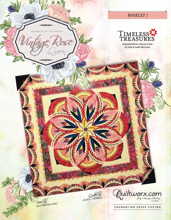 Vintage Rose Queen Quilt - JNQ00212P1-WSAS