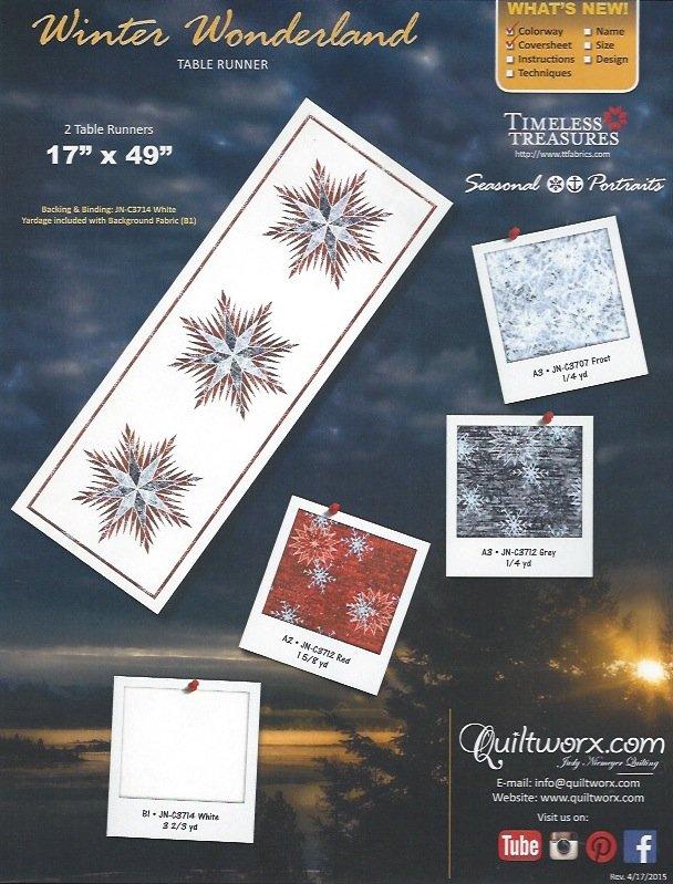 Winter Wonderland Table Runner Seasonal Portrait Fabric Kit - WWSP-001