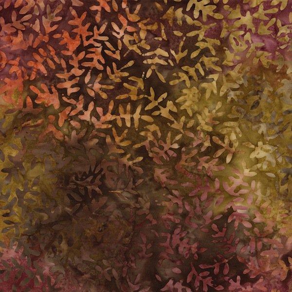 *Autumn Viney Leaf XTonga Wide Back Batik (106) - B2273