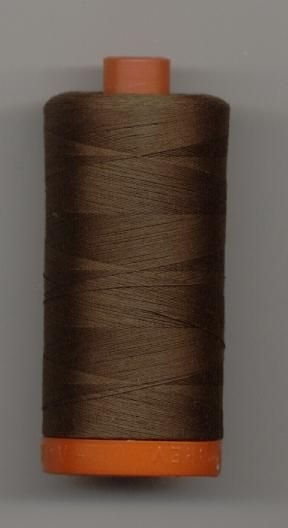 *Aurifil 50 wt. Cotton Mako Thread (Medium Bark) - 200y - 20051-1285