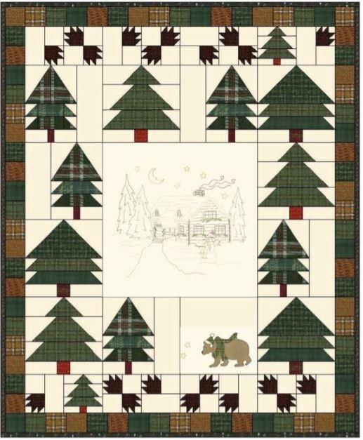 Woodland Getaway Flannel 56x68
