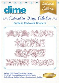 Endless Redwork Borders Embroidery Design Collection