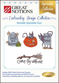 Great Notions Kookie Spookie Fun Embroidery Design Collection