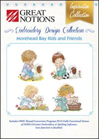 Great Notions Morehead Bay Kids and Friends Embroidery Design Collection