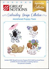 Great Notions Morehead Puppy Toes Embroidery Design Collection