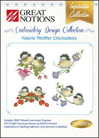 Valerie Pfeiffer Chickadees Embroidery Design Collection
