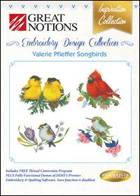 Valerie Pfieffer Songbirds Embroidery Design Collection
