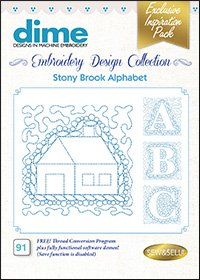 Stony Brook Alphabet Embroidery Design Collection