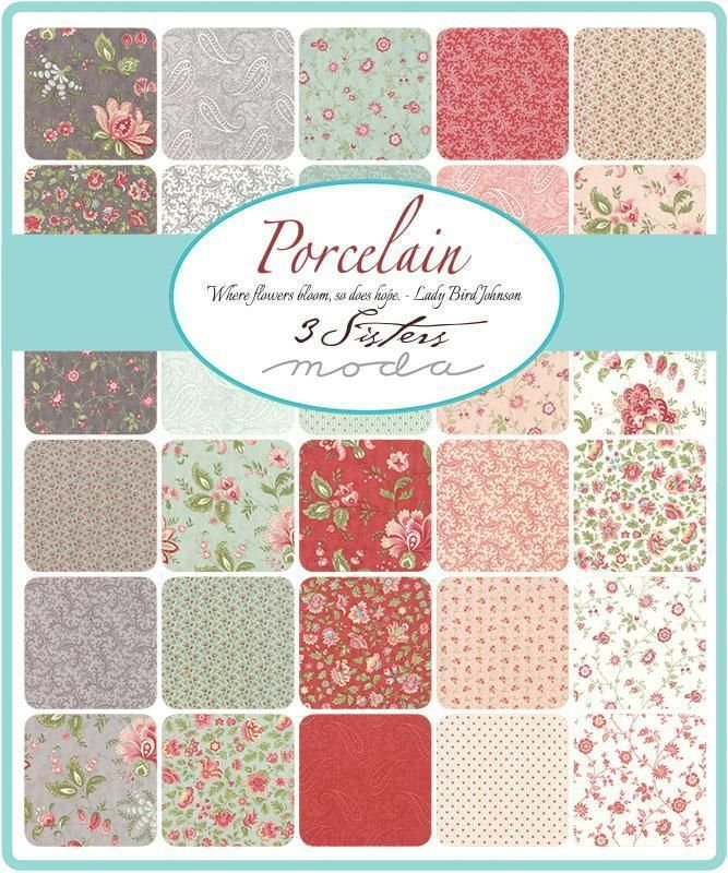 Moda Porcelain by The Three Sisters Jelly Roll