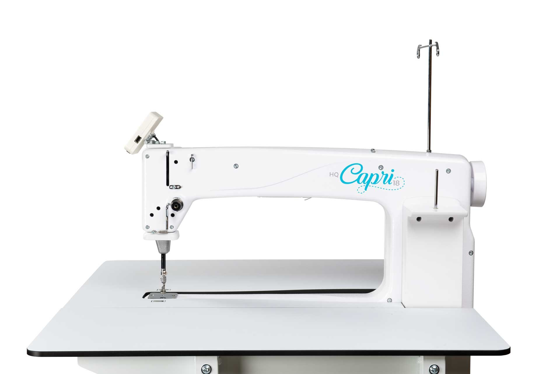 HQ Capri 16 Stationary with HQ InSight Table with HQ InSight Stitch Regulation