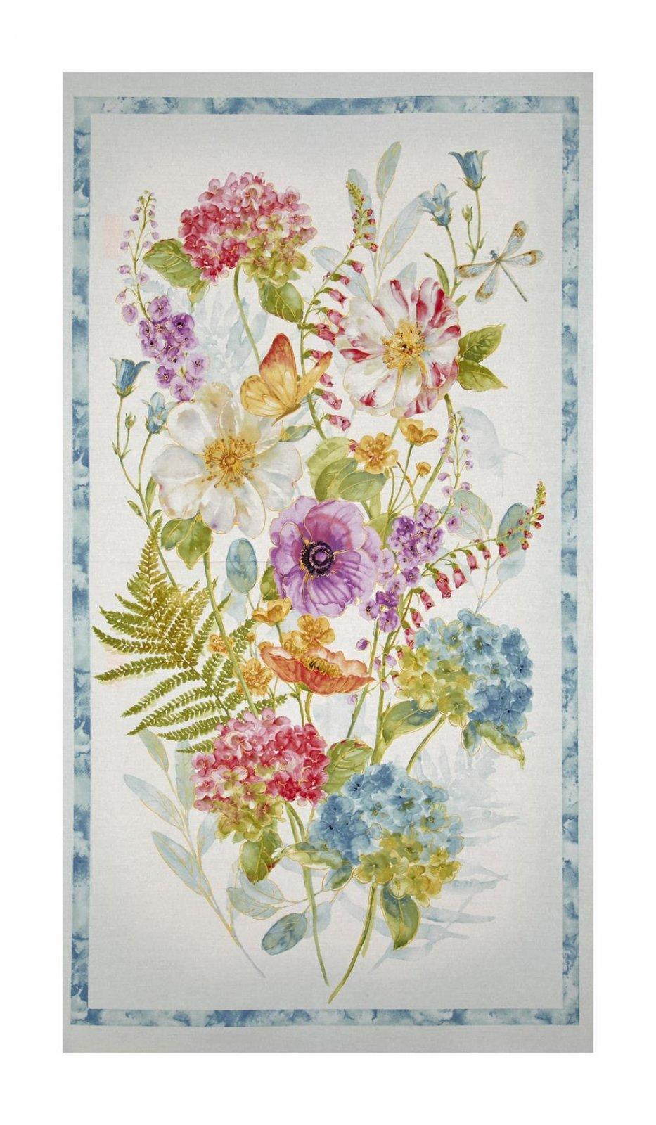 Floral Quilt Panel
