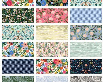 Rifle Paper Co. Wildwood 21 Piece Fat Quarter Roll