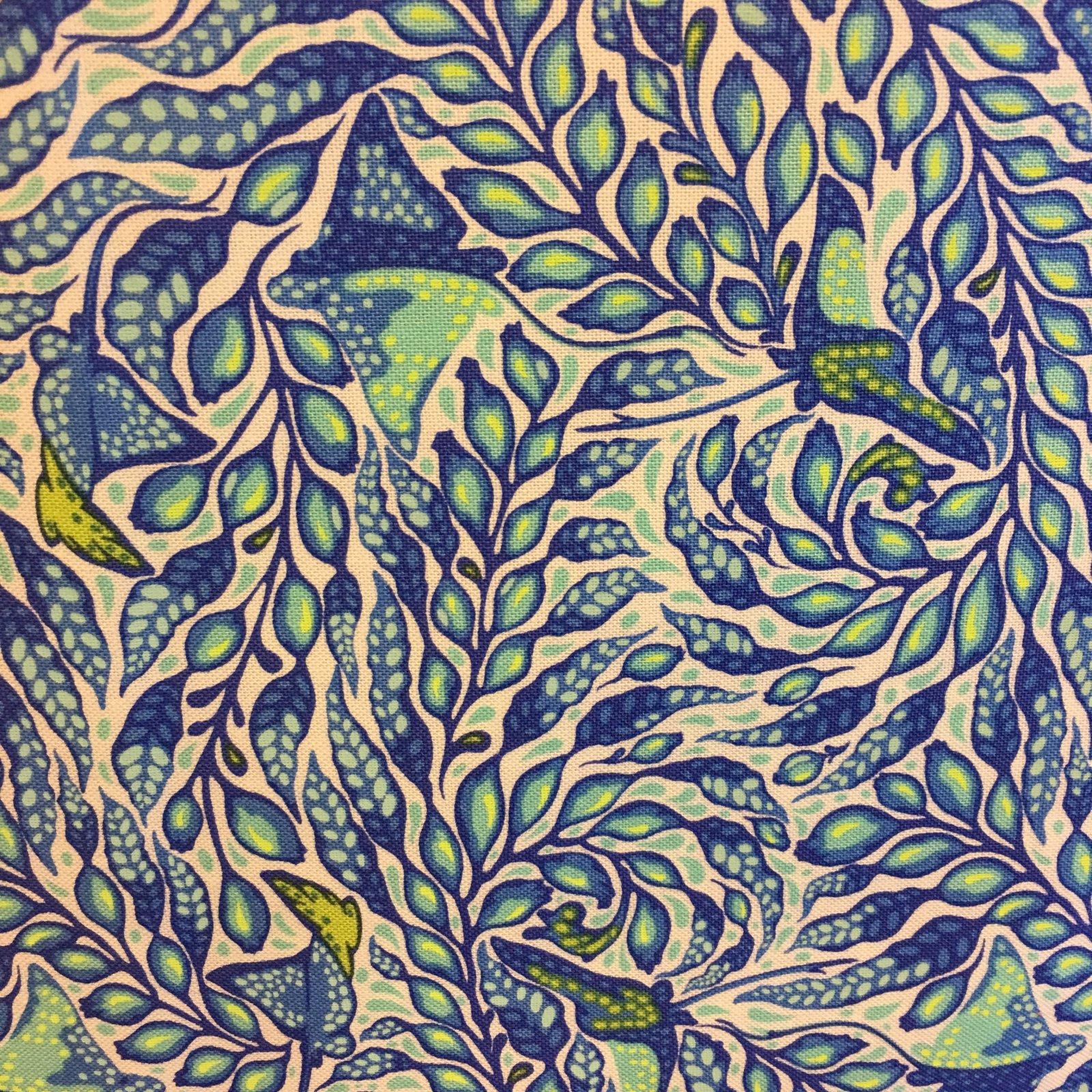 Tula Pink Zuma Collection - Stingray Aquamarine